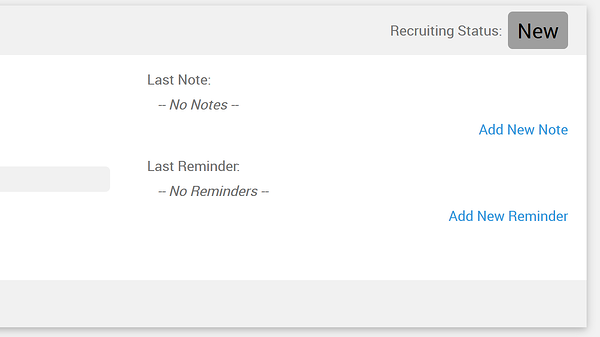 recruiting status label
